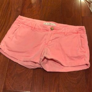 Bright pink Abercrombie and Fitch shorts size 0